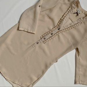 Dynamite chiffon tunic blouse